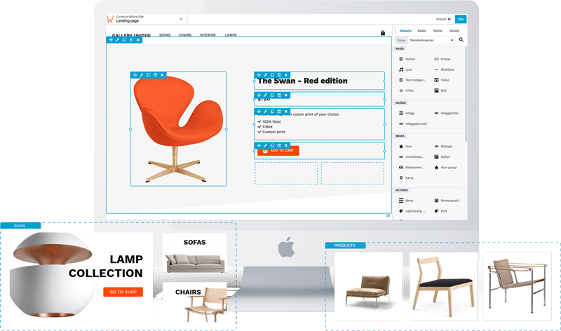 Wetail Page Builder för e-handel